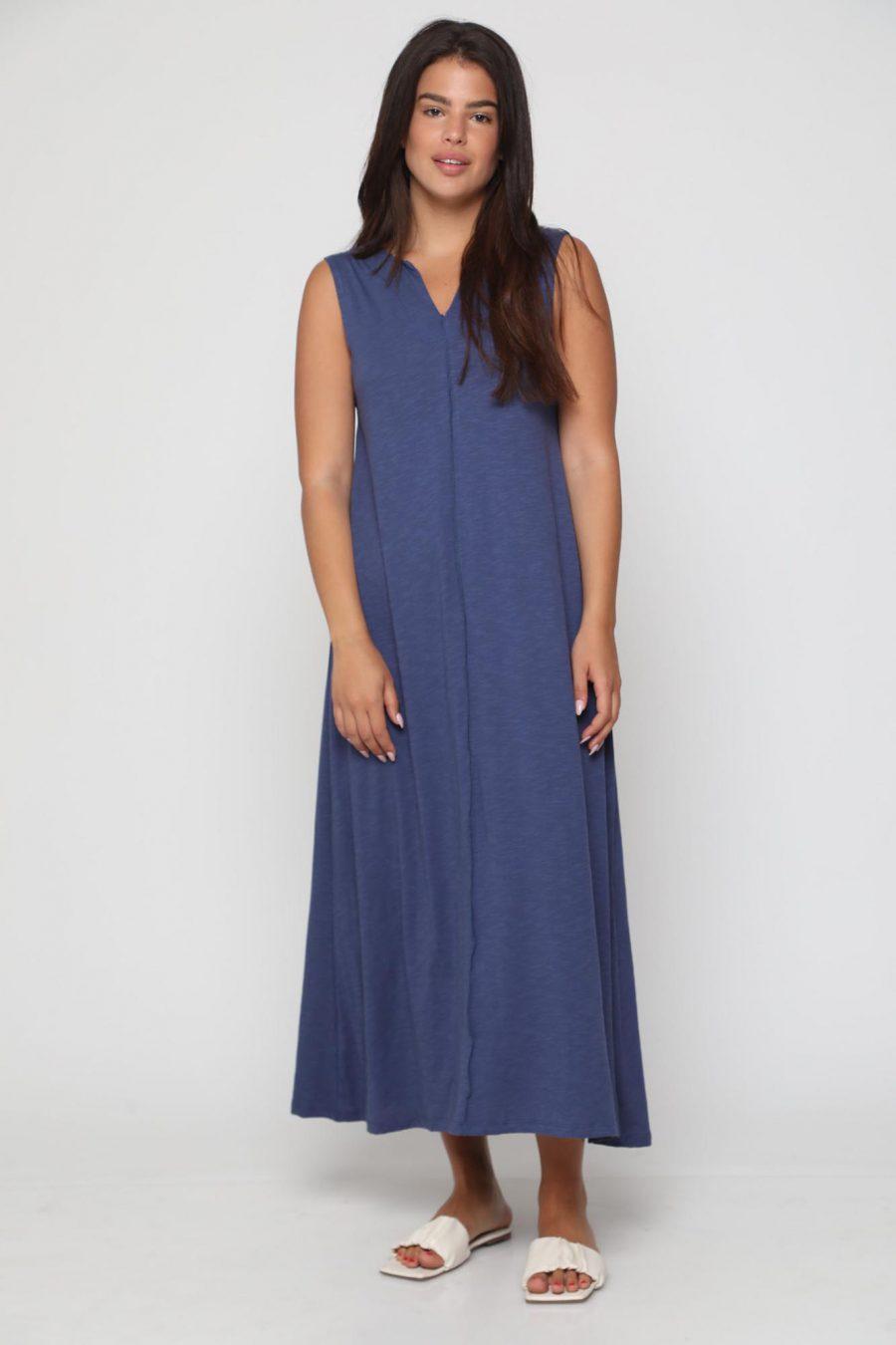 שמלה מונקו חלק כחול