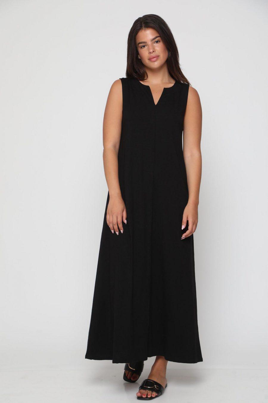 שמלה מונקו חלק שחור