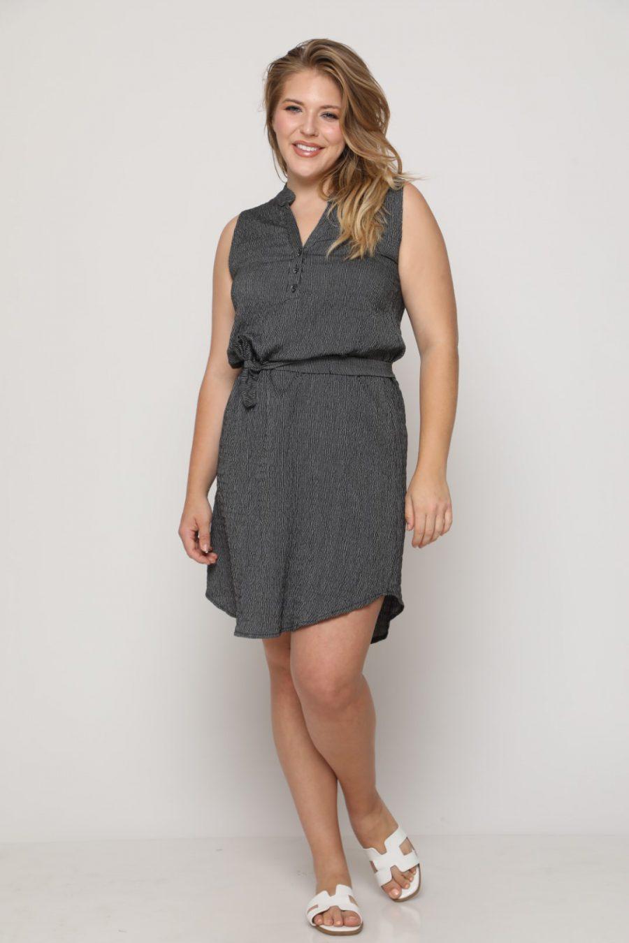 שמלה מישל שחור אפרפר