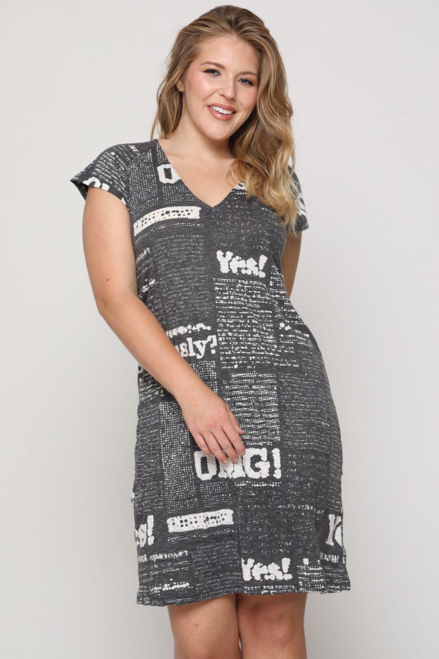 שמלה איסלנד שחור