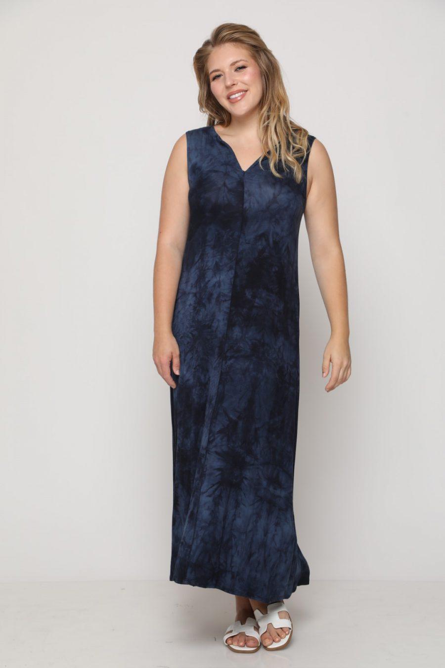 שמלה מקסי טקסס כחול