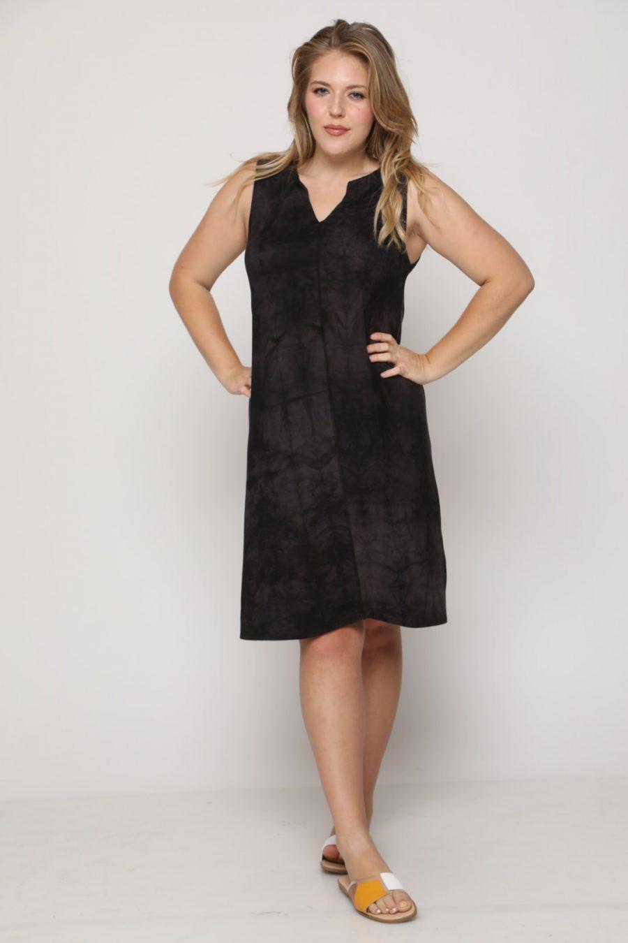 שמלה טקסס שחור