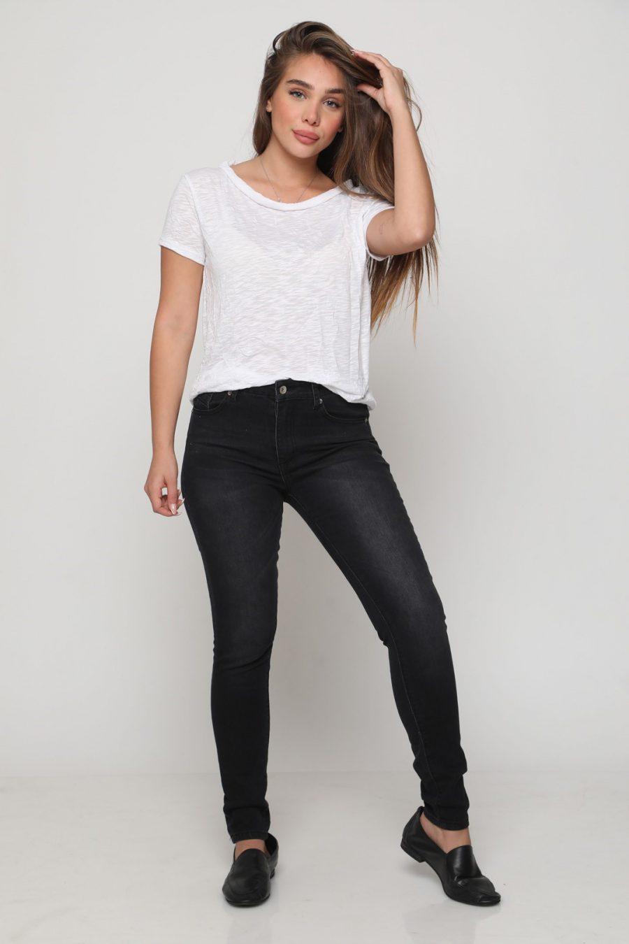 ג'ינס סקיני רוכסן שחור