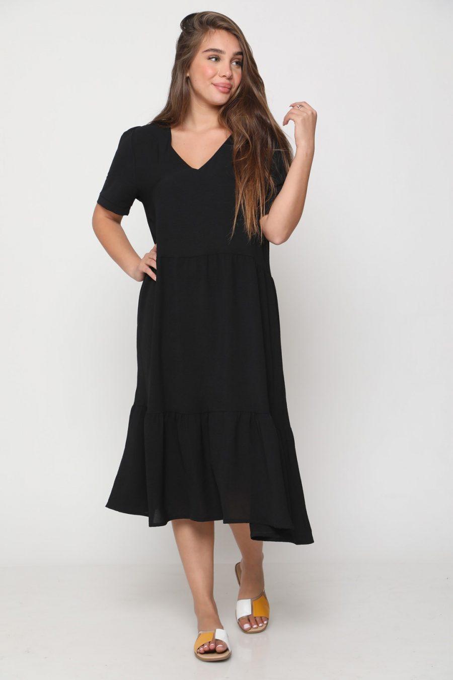שמלה לונה שחורה