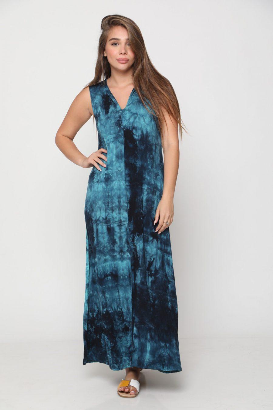 שמלה מקסי טקסס כחול רויאל