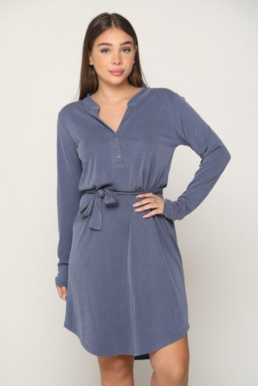 שמלה ונציה כחול ג'ינס