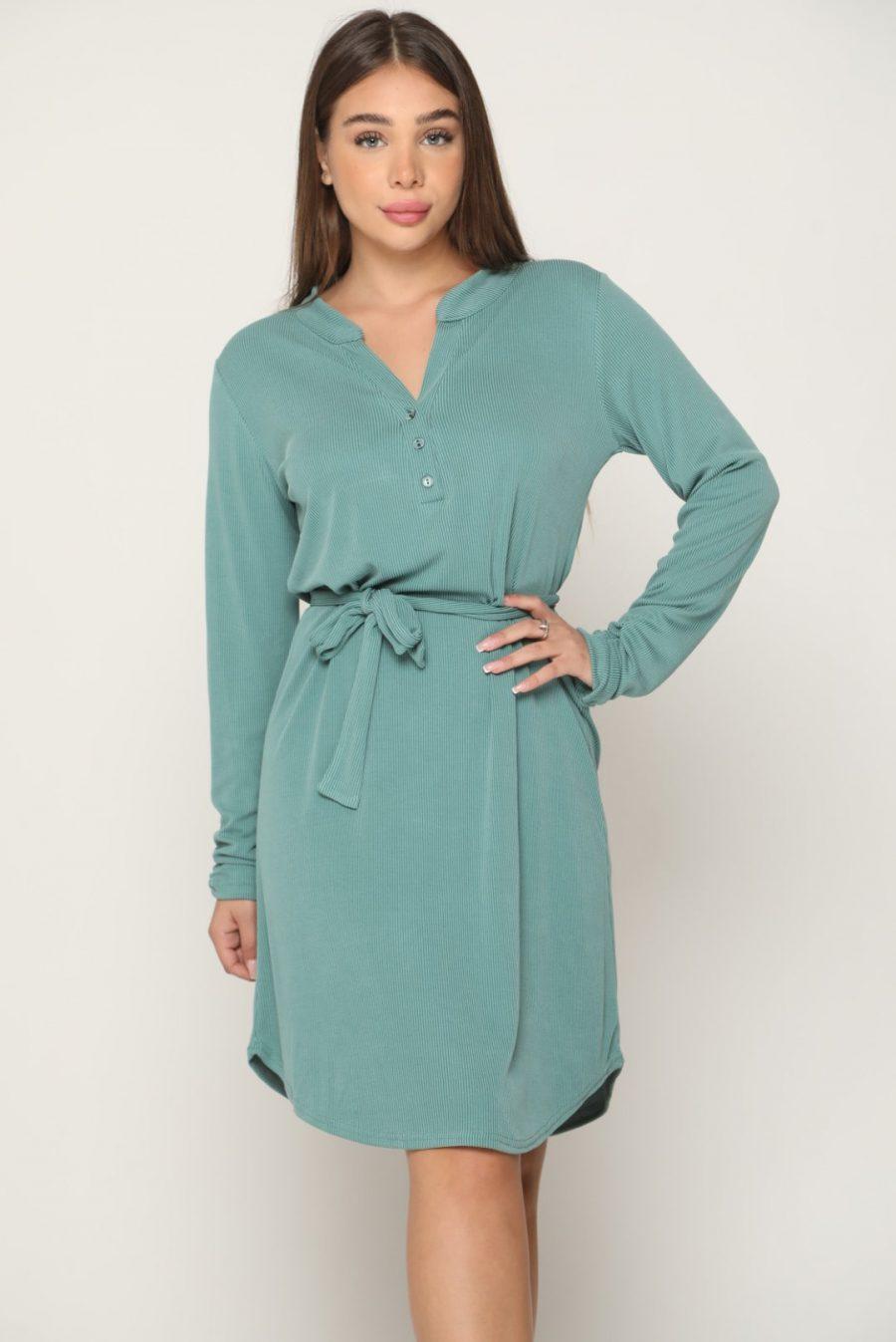 שמלה ונציה ירוק מנטה